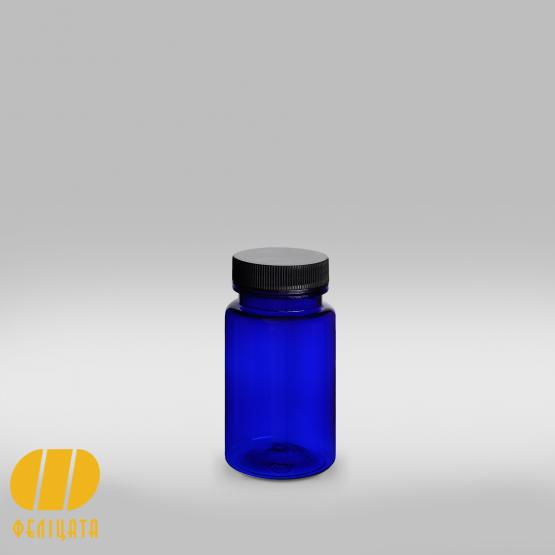 ПЭТ бутылка синяя 100 мл