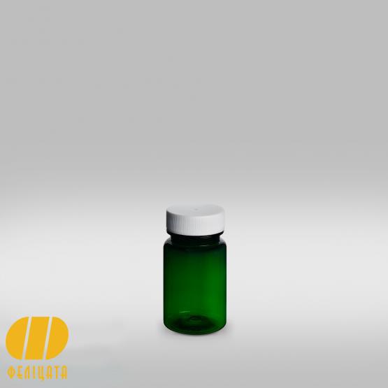 ПЭТ бутылка зеленая 60 мл