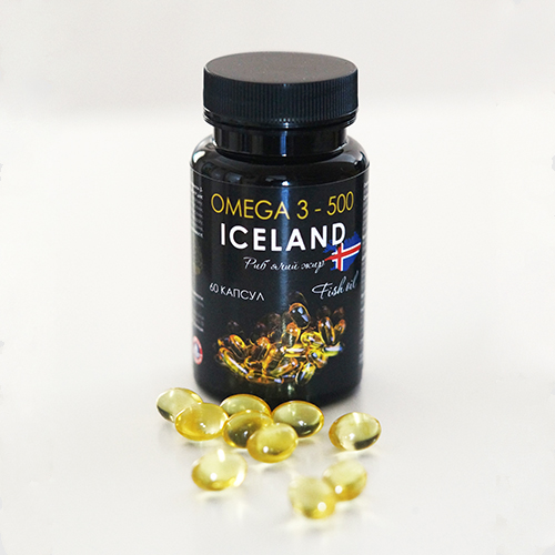 Омега 3 Премиум Рыбий жир, капсулы по 500 мг №60